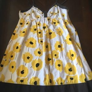 Adorable Yellow Flower Dress FOREVER 21 Cotton
